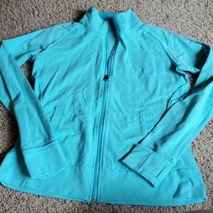 Light blue athletic jacket